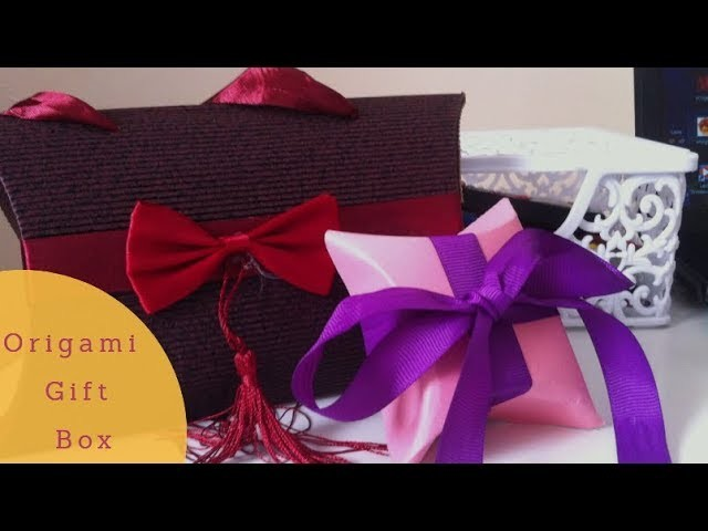 How to make an easy Origami Paper gift box - Easy DIY art and craft