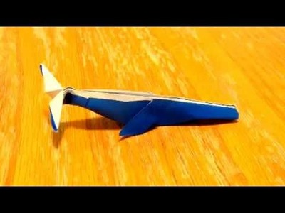 How to make an origami blue whale