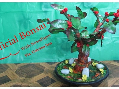 How to Make Artificial Bonsai Tree With NewsPaper