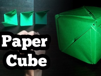 How to make Cube with Paper - Origami Box