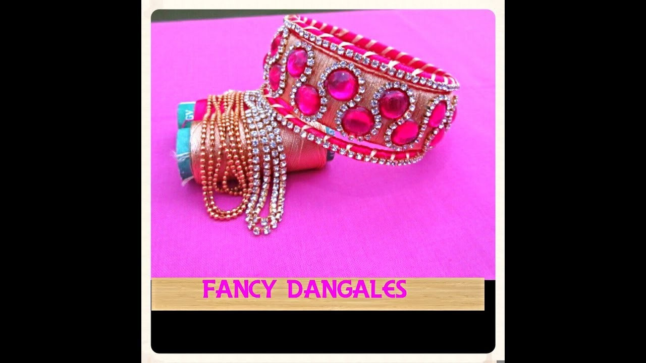 How To Make Designer Silk Thread Bangles At Home Fancy Bangles With Pink My Crafts And Diy
