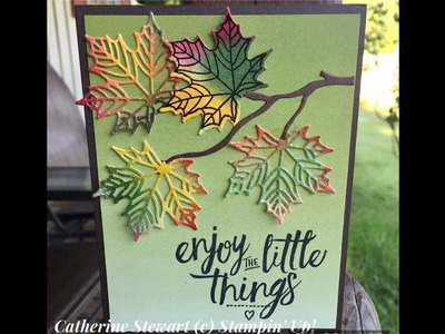 How to make fall leaves with Seasonal Thinlits