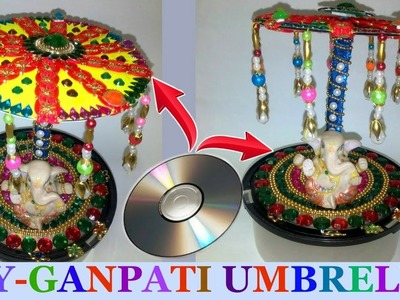 How to make Ganesh.ganpati.god umbrella | ganesh chaturthi decoration idea -DIY