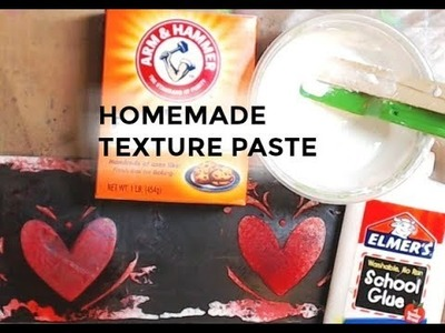 HOW TO MAKE HOMEMADE TEXTURE PASTE