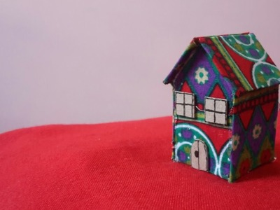 How to make house with cardboard paper and fabric