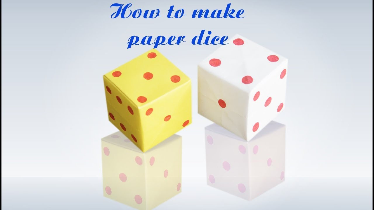 How To Make Origami Loaded Dice Step By Step Instructions