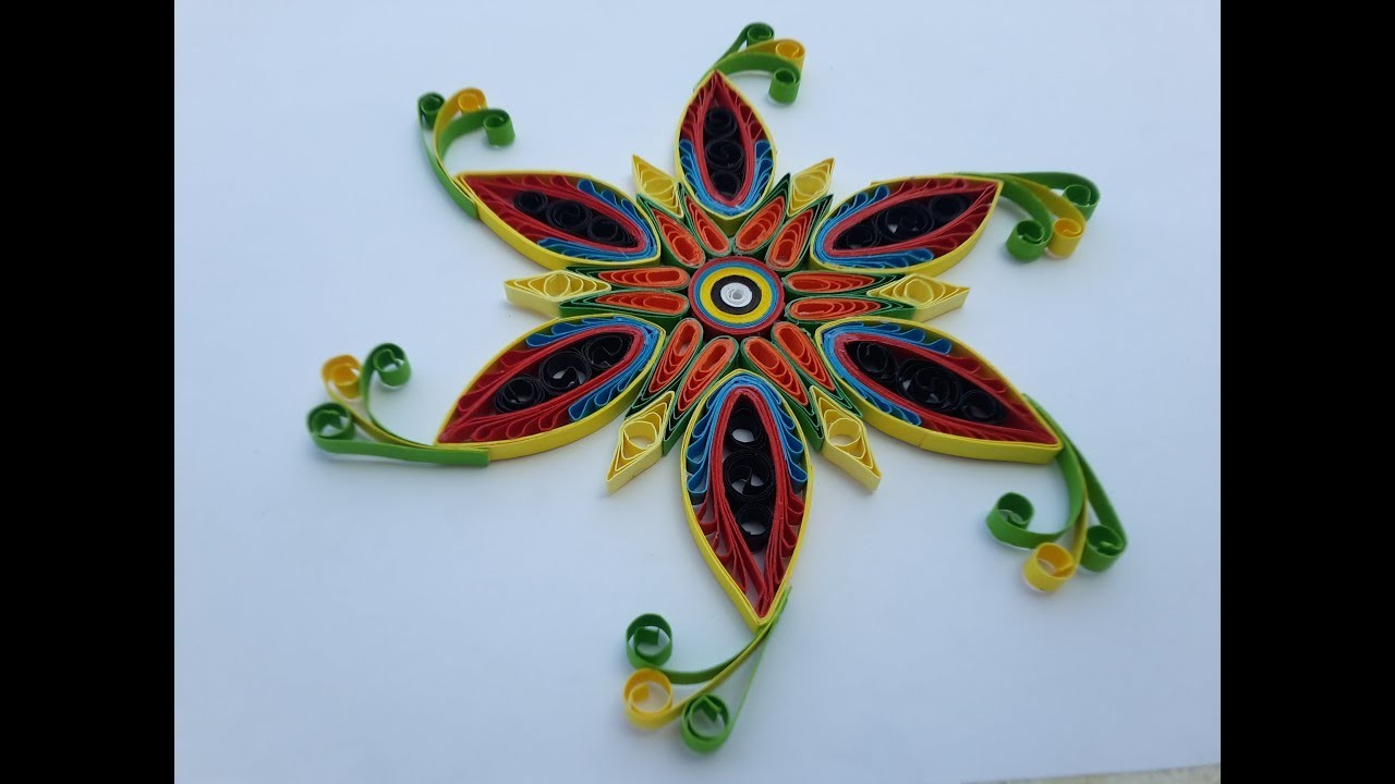 How to make paper quilling flowers using quilling comb and for How to use quilling strips