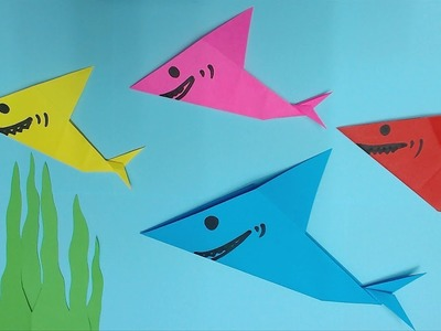 How to Make Shark with Color Paper | DIY Paper Sharks Making