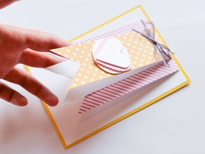 How to make : Simple Greeting Card | Łatwa Kartka Okolicznościowa - Mishellka #249 DIY