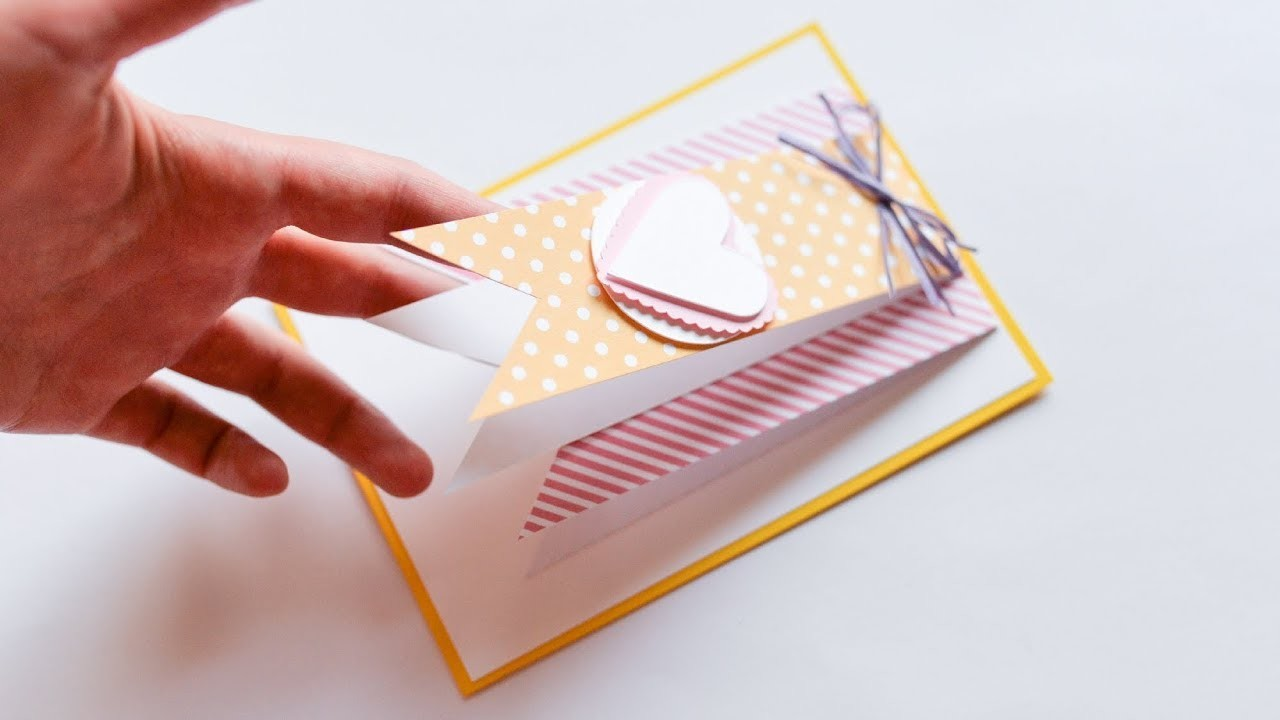 How to make : Simple Greeting Card   Łatwa Kartka Okolicznościowa - Mishellka #249 DIY