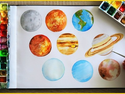 How to Paint Planets with Watercolor | Art Journal Thursday Ep. 15