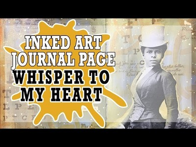 How to: Quick and Easy Art Journal Page - Whisper