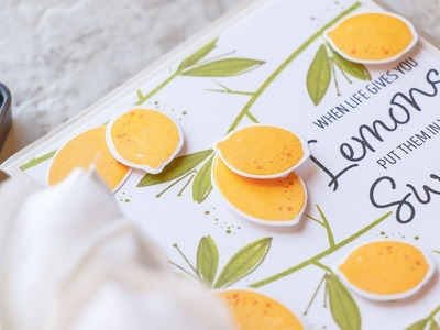 How To Stamp Lemon Tree Branches Pattern