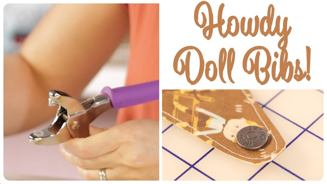How to Use Heavy Duty Snap Pliers Featuring Howdy Bandana Bib by Stacy Iest Hsu - Fat Quarter Shop