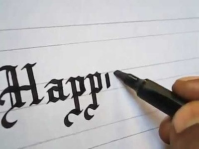 How to write Happy New Year Greetings impressive | Calligraphy
