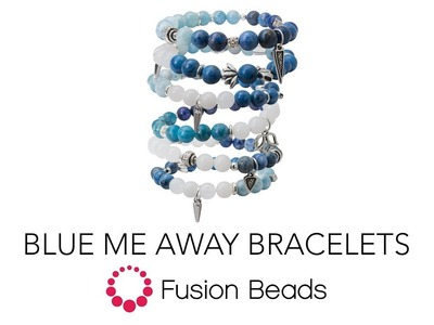 Learn how to make the Blue Me Away Bracelets by Fusion Beads