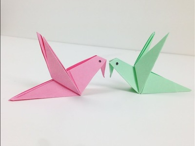 Origami Birds - How to Make a Cute Origami Paper Bird | An Origami Bird for Beginners: Easy Tutorial