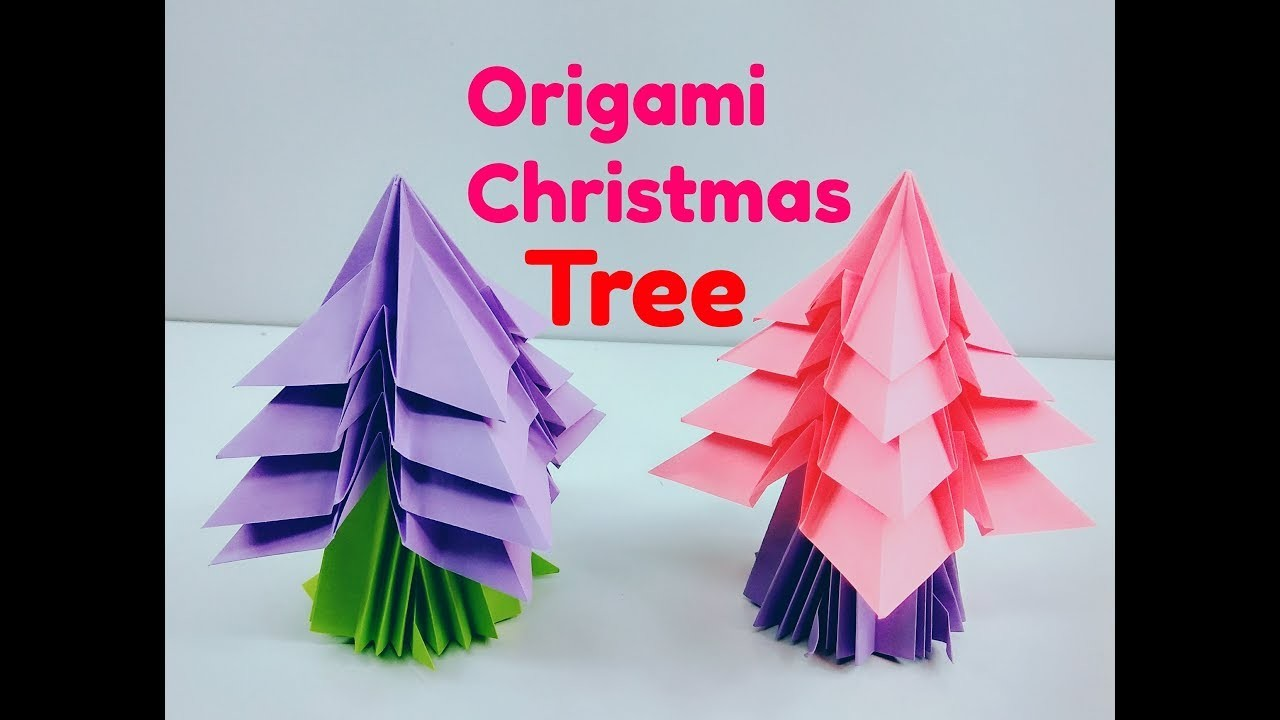origami christmas treeeasy paper treeorigami christmas