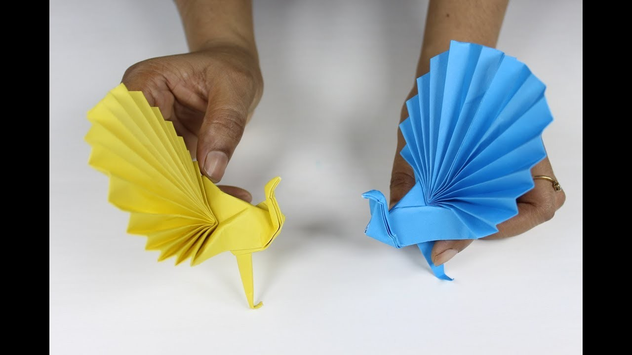 Origami Peacock How To Make 3d Paper Realistic