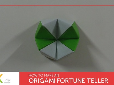 Origami toys #62 - How to make an origami fortune teller III (2 colors)