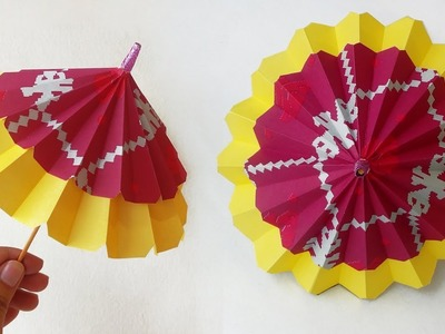 Origami Umbrella that Opens and Closes | Easy | Tutorial - YouTube | 300x400