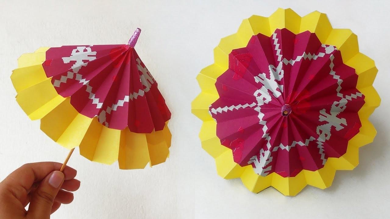 Origami Umbrella – Best Paper Umbrella that Open and Close – DIY How to Make Paper Umbrella