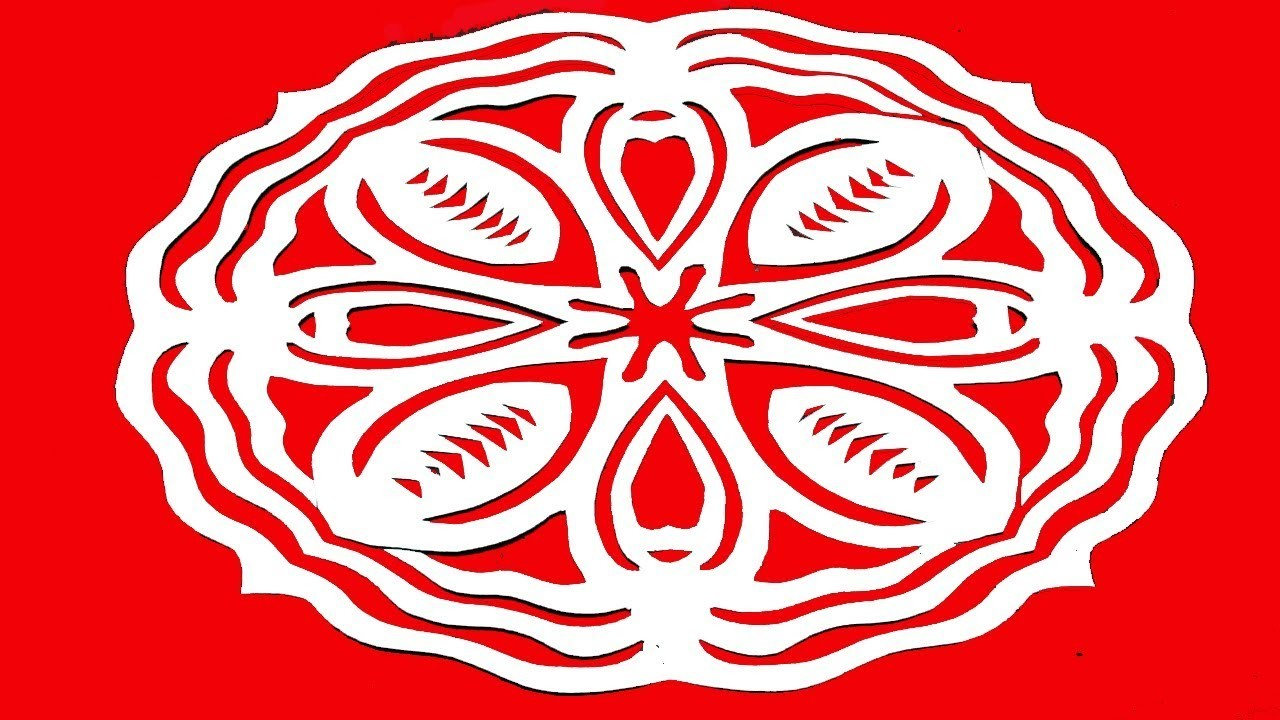 Paper cutting design how to make simple easy paper cutting flowers kirigami tutorial step by for Easy paper cutting flowers