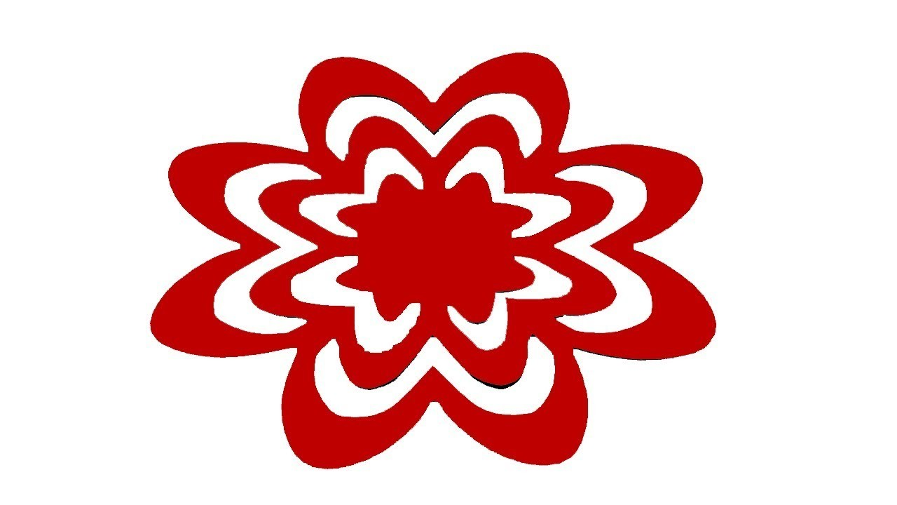 Paper cutting design how to make easy paper cutting flowers diy kirigami instructions step by for Easy paper cutting flowers