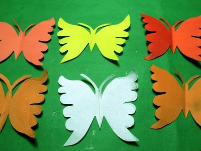 Paper Cutting Design-How to make paper cutting Butterfly? DIY Kirigami Tutorial step by step.