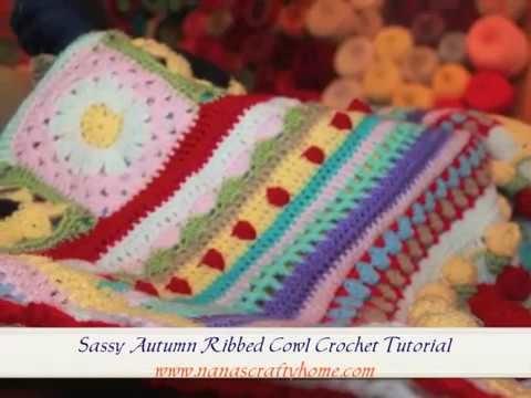 Sassy Autumn Ribbed Crochet Cowl Tutorial