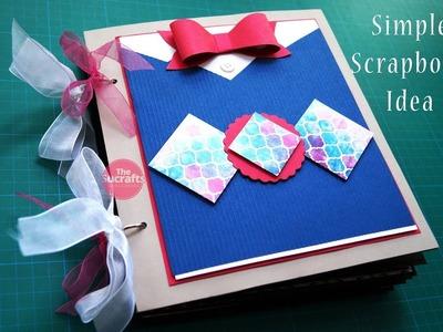 Simple Scrapbook Idea | The Sucrafts