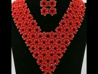 The tutorial on how to make this beautiful red and silver necklace bead