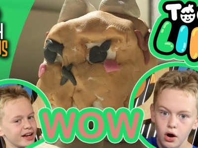 Toca Boca Action Figures!?! - How to make Paper Bag Cat out of modeling clay