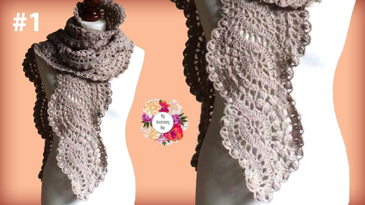 Wavy crochet lace scarf tutorial part 1 my crafts and diy projects wavy crochet lace scarf tutorial part 1 baditri Images