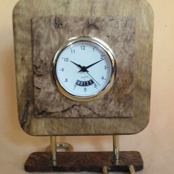 Wooden Desk or table clock
