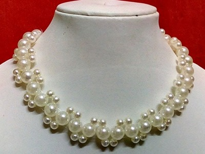 #23 How to Make Pearl Beaded Necklace || Diy || Jewellery Making