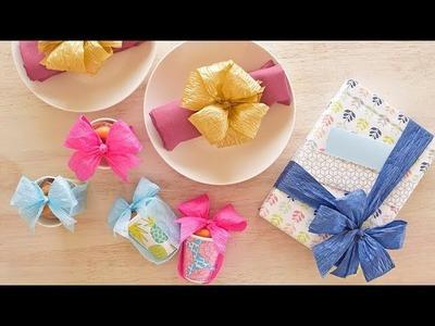 3 DIY Ideas using Eco-Friendly Paper Ribbons
