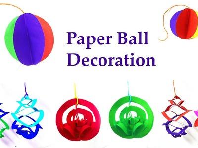3 DIY paper ball decoration idea |  DIY party decoration
