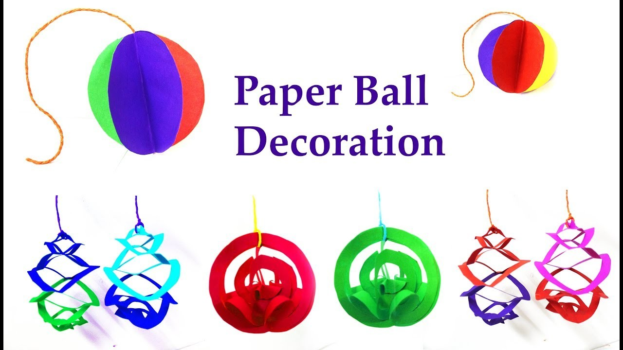 3 DIY paper ball decoration idea    DIY party decoration