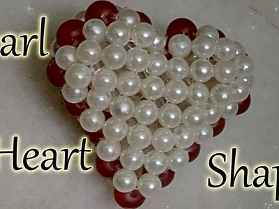 #39 How to make Pearl Beaded Love Shape || Diy || Jewellery Making