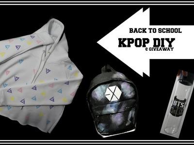 Back to School KPOP DIY's: EXO, BTS, SEVENTEEN + GIVEAWAY | heyimvicky