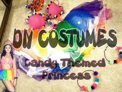 Candy Themed Princess || DIY COSTUMES || Raver Girl, Rainbow, UV Reactive Outfit