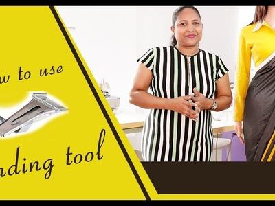 Class 48: How to use binding tool. bias tape maker. Single fold binding. designing saree