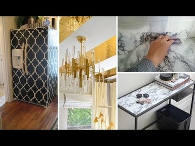 Contact Paper Decorating Ideas | DIY Marble Table & Desk | DIY Room, Apartment Kitchen