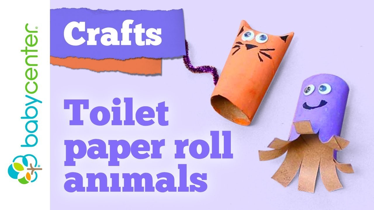 Crafts for kids: Toilet paper roll animals