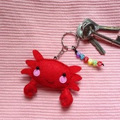 Cute Crab Animals Stuffed Felt Key Chain Key Ring With or Without Colorful Personalised Words Beaded Craft Kids Friend Gift Toys
