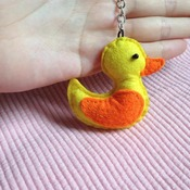 Cute Duck Animals Stuffed Felt Key Chain Key Ring With or Without Colorful Personalised Words Beaded Craft Kids Friend Gift Toys