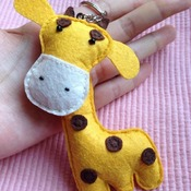 Cute Giraffe Animals Stuffed Felt Key Chain Key Ring With or Without Colorful Personalised Words Beaded Craft Kids Friend Gift Toys