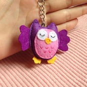 Cute Owl Animals Stuffed Felt Key Chain Key Ring With or Without Colorful Personalised Words Beaded Craft Kids Friend Gift Toys