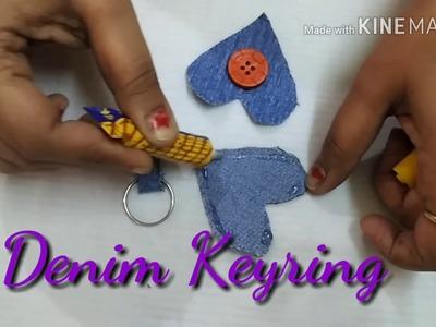 Different kind of keyrings #DIY #Pom Pom keyring #Denim keyring #Felt paper keyring